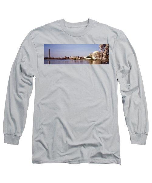 Usa, Washington Dc, Washington Monument Long Sleeve T-Shirt by Panoramic Images