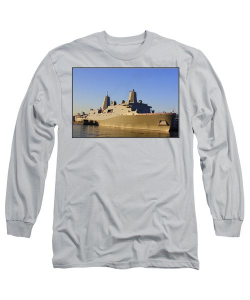 Uss New York - Lpd21 Long Sleeve T-Shirt by Dora Sofia Caputo Photographic Art and Design