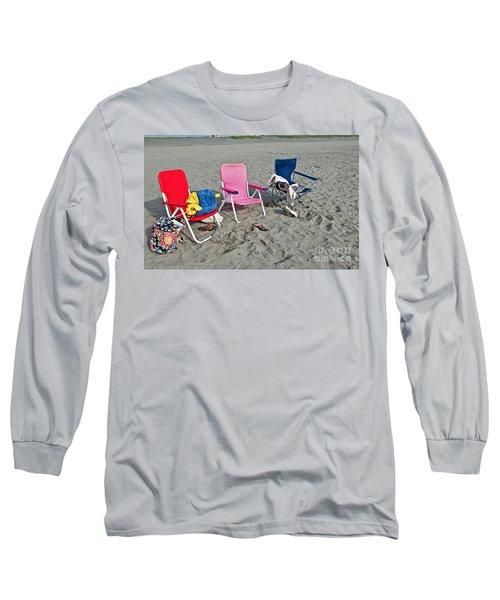 Vacation Time Beach Art Prints Long Sleeve T-Shirt by Valerie Garner