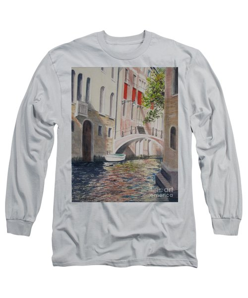 Long Sleeve T-Shirt featuring the painting Venice 2000 by Carol Flagg