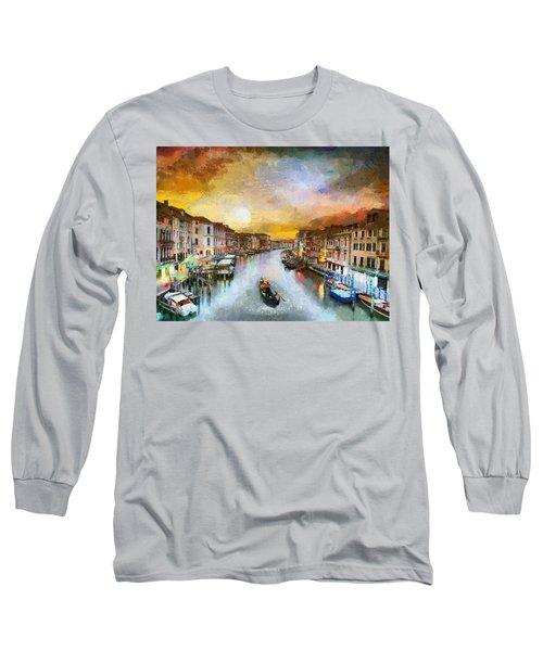 Sunrise In The Beautiful Charming Venice Long Sleeve T-Shirt by Georgi Dimitrov