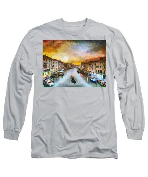 Sunrise In The Beautiful Charming Venice Long Sleeve T-Shirt