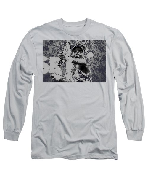 Venus Williams Paint Splatter 2e Long Sleeve T-Shirt by Brian Reaves