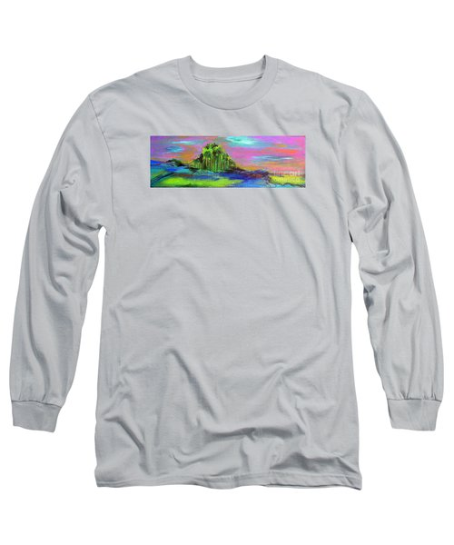 Long Sleeve T-Shirt featuring the painting Verdant Tuft by Elizabeth Fontaine-Barr