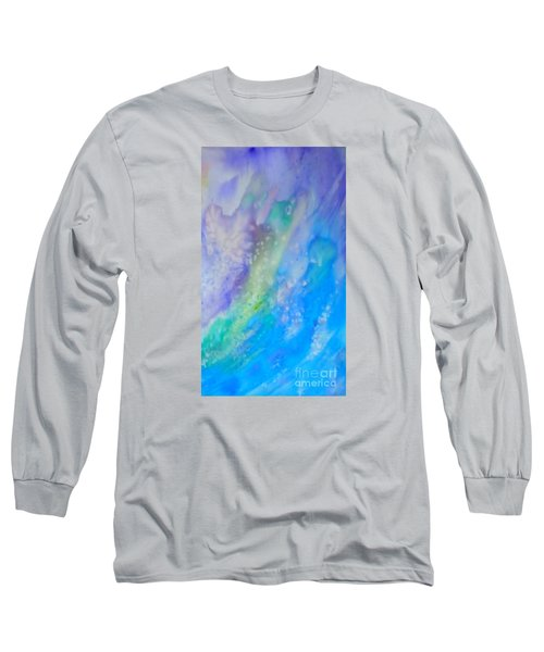 Vetical Ocean Waves Long Sleeve T-Shirt by Justin Moore