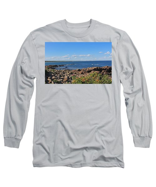 View From Marginal Way Ogunquit Maine 3 Long Sleeve T-Shirt