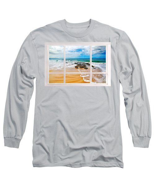 View From My Beach House Window Long Sleeve T-Shirt