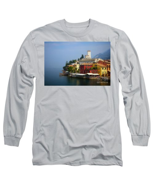 Village Near The Water With Alps In The Background  Long Sleeve T-Shirt