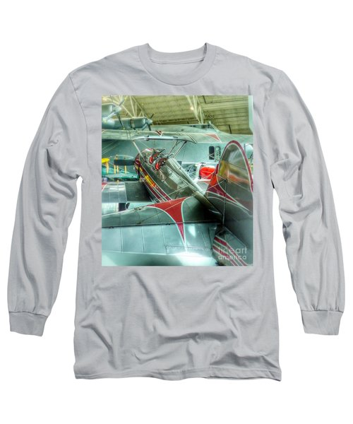 Vintage Airplane Comparison Long Sleeve T-Shirt