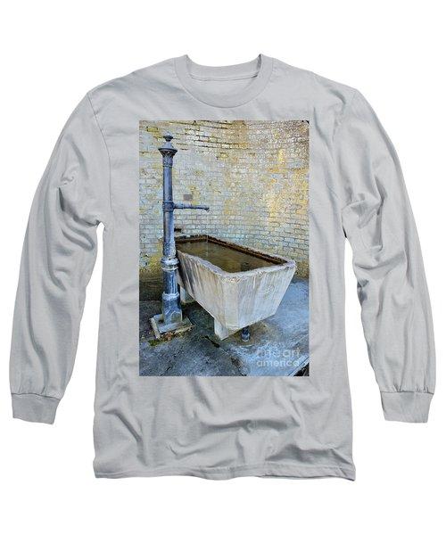 Vintage Fountain Long Sleeve T-Shirt by Felicia Tica