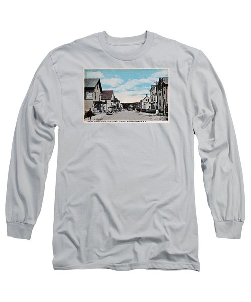 Vintage Postcard Of Wolfeboro New Hampshire Art Prints Long Sleeve T-Shirt