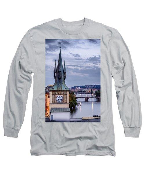 Vltava River In Prague Long Sleeve T-Shirt