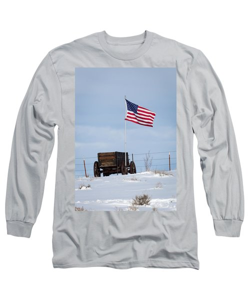 Wagon And Flag Long Sleeve T-Shirt