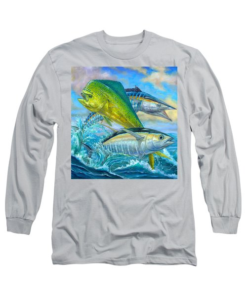 Wahoo Mahi Mahi And Tuna Long Sleeve T-Shirt