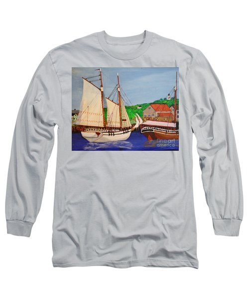 Waiting For The Salt Long Sleeve T-Shirt by Bill Hubbard