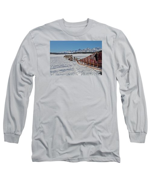 Waiting Sled Dogs  Long Sleeve T-Shirt