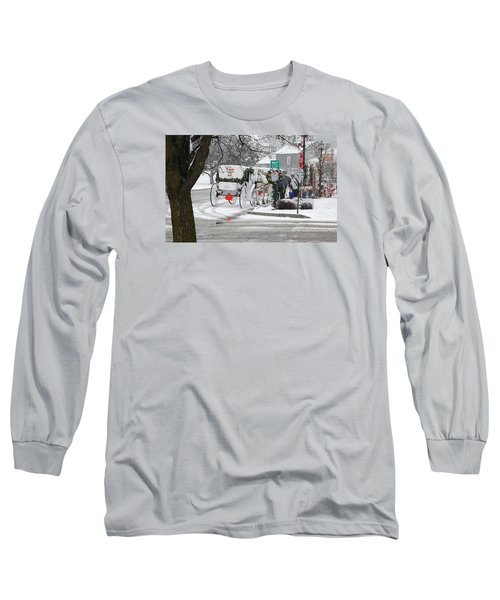 Long Sleeve T-Shirt featuring the photograph Waiting To Give A Ride by Janice Adomeit