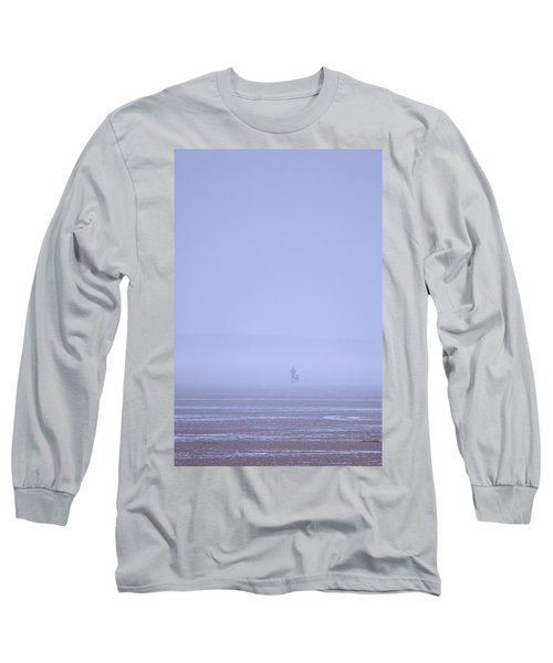 Walking The Dog In The Mist Long Sleeve T-Shirt by Spikey Mouse Photography