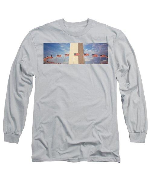 Washington Monument Washington Dc Usa Long Sleeve T-Shirt by Panoramic Images