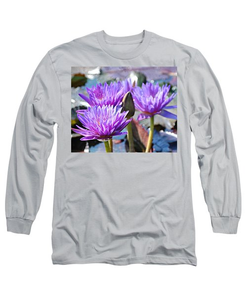Long Sleeve T-Shirt featuring the photograph Water Flower 1006 by Marty Koch