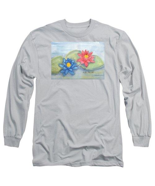 Water   Lillies  Long Sleeve T-Shirt by Pamela  Meredith