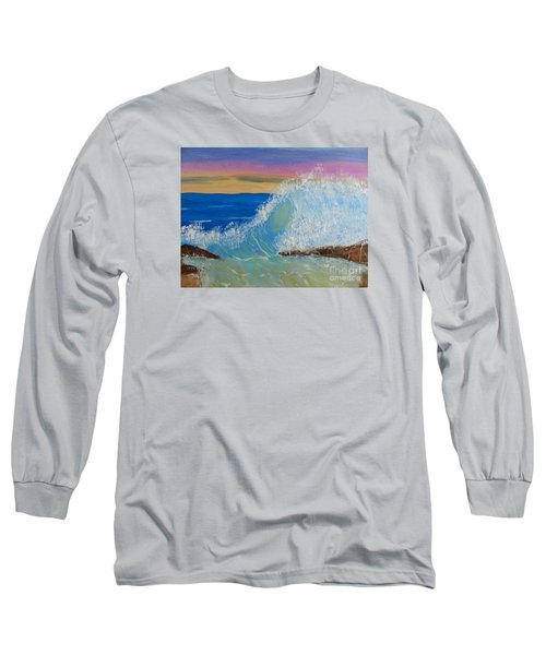 Wave At Sunrise Long Sleeve T-Shirt