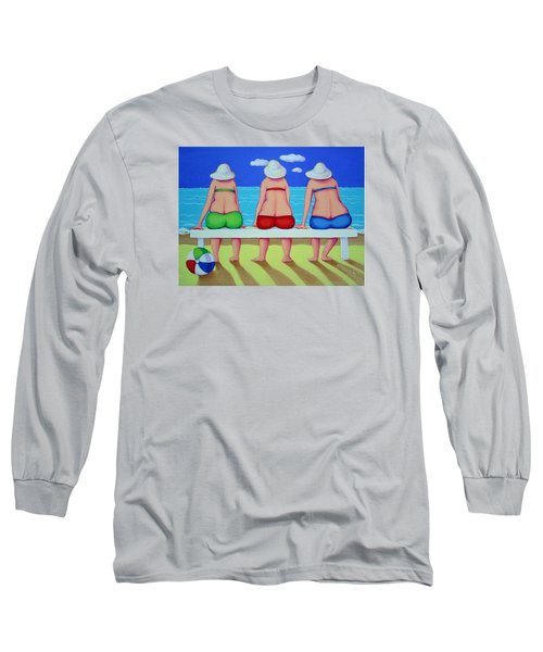 Wave Watch - Beach Long Sleeve T-Shirt by Rebecca Korpita