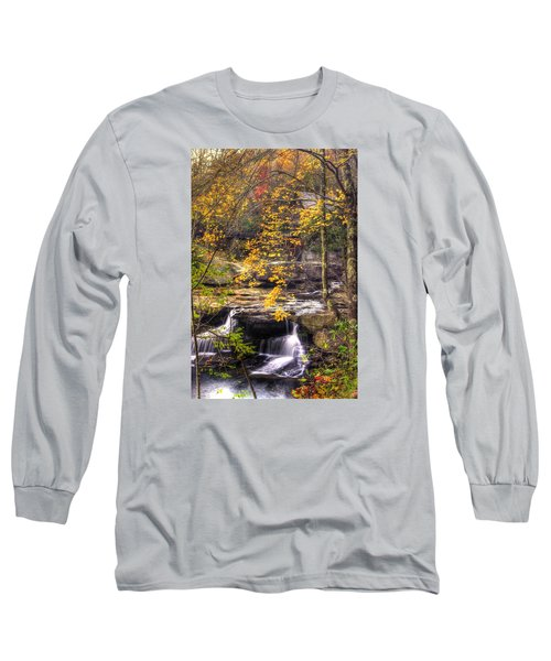We Have Reached The Mill - Glade Creek Grist Mill Babcock State Park West Virginia - Autumn Long Sleeve T-Shirt