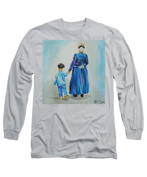 Westfriese Woman And Boy Long Sleeve T-Shirt