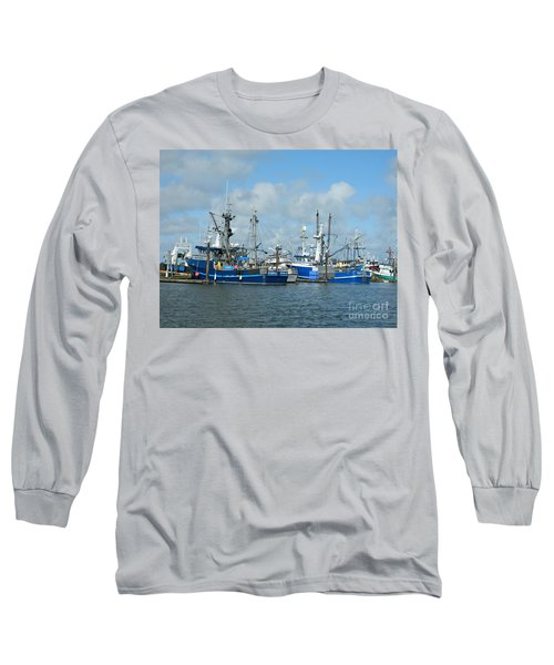Westport Fishing Boats Long Sleeve T-Shirt by Chalet Roome-Rigdon
