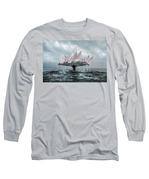 Whale Long Sleeve T-Shirt by Evgeniy Lankin