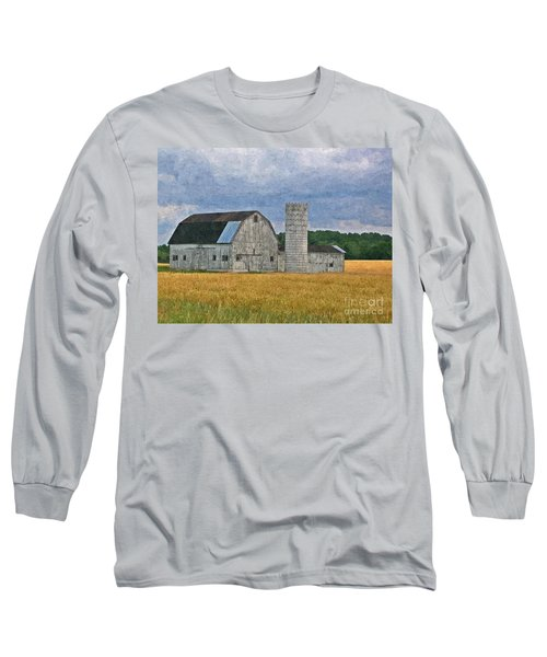 Wheat Field Barn Long Sleeve T-Shirt