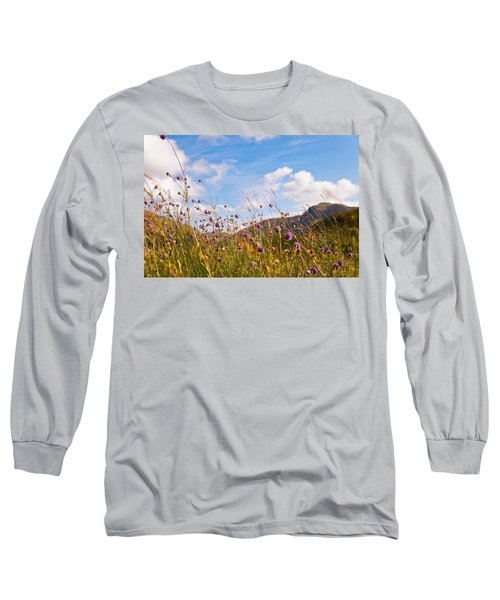 When The Sun Is Shining Everything Around Smiling Towards. Scotland Long Sleeve T-Shirt