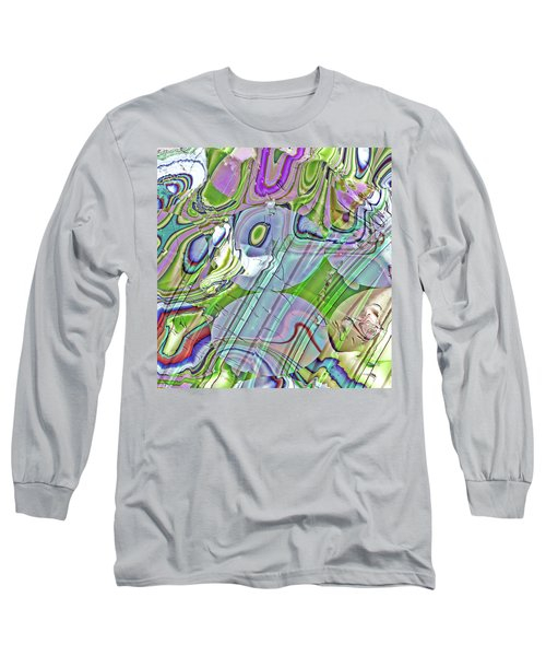 Long Sleeve T-Shirt featuring the digital art When Worlds Collide by Richard Thomas