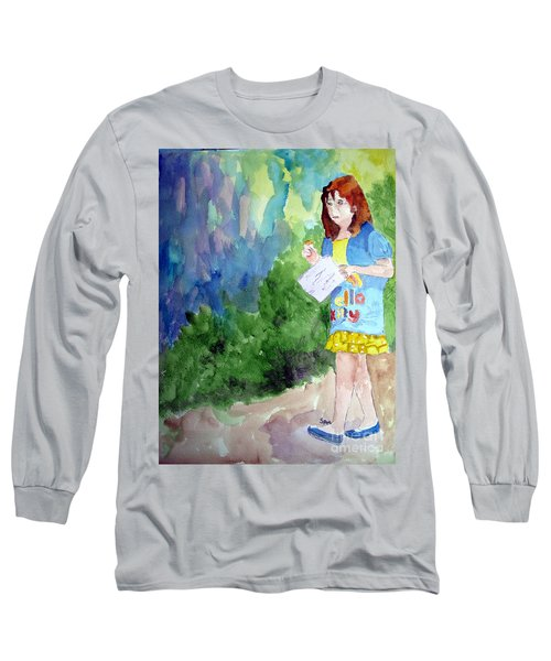 Long Sleeve T-Shirt featuring the painting A Walk In The Woods by Sandy McIntire
