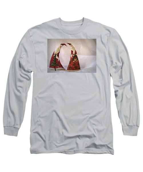 Long Sleeve T-Shirt featuring the photograph Whimsical Santas by Nadalyn Larsen
