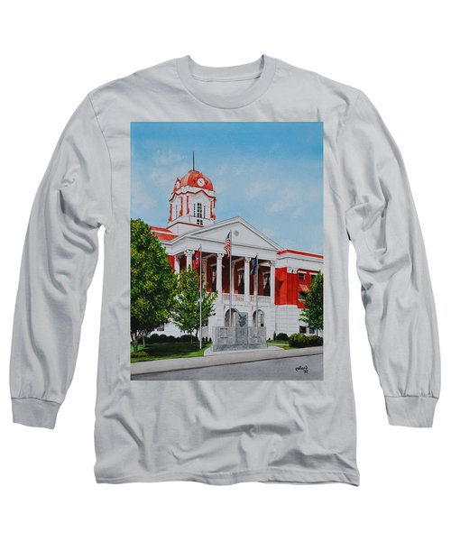 White County Courthouse - Veteran's Memorial Long Sleeve T-Shirt