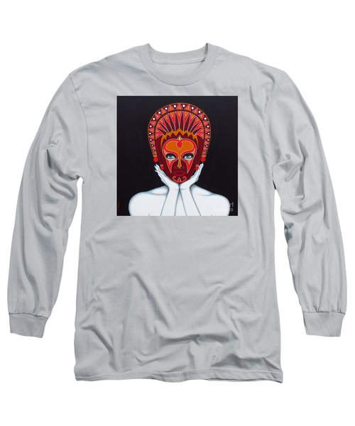White Goddess Long Sleeve T-Shirt by Joseph Sonday