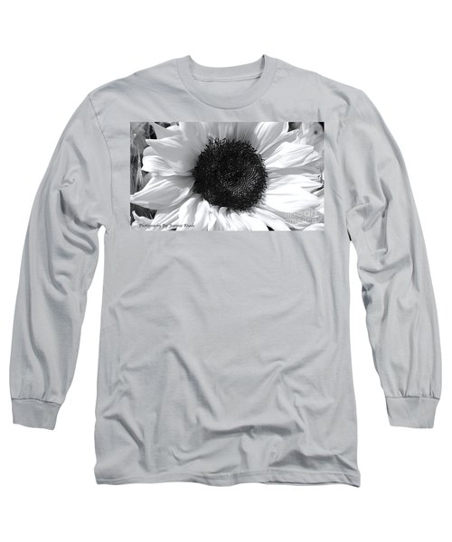 Long Sleeve T-Shirt featuring the photograph White Sunflower by Jeannie Rhode