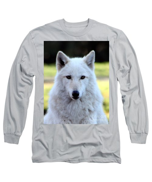White Wolf Close Up Long Sleeve T-Shirt