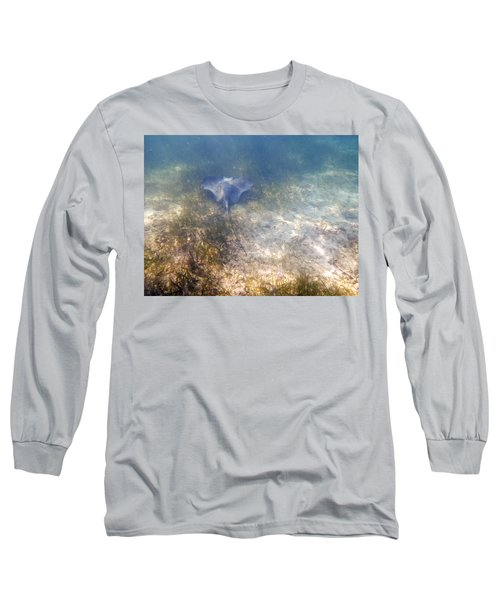Long Sleeve T-Shirt featuring the photograph Wild Sting Ray by Eti Reid