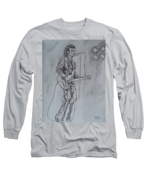 Mink Deville - Steady Drivin' Man Long Sleeve T-Shirt by Sean Connolly