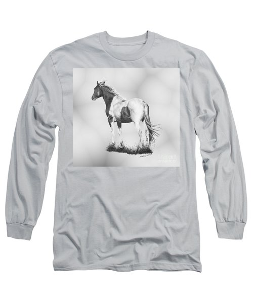 Long Sleeve T-Shirt featuring the drawing Winds Of Change by Marianne NANA Betts