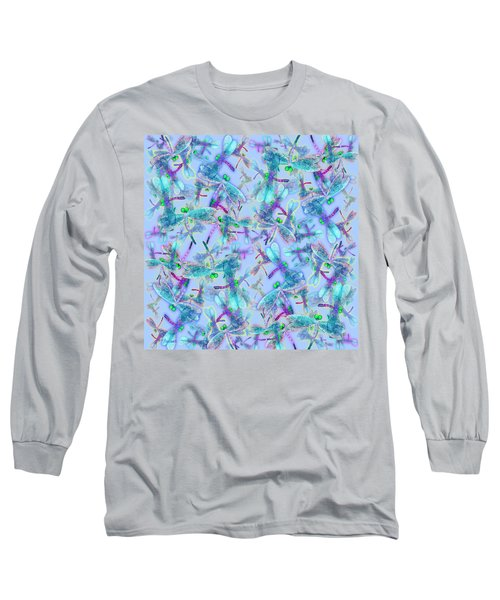 Wings On Blue Duvet Cover Long Sleeve T-Shirt