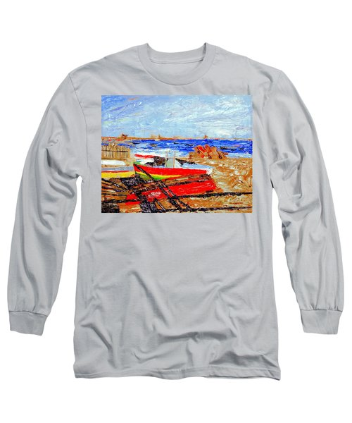 Winter At Provincetown Long Sleeve T-Shirt