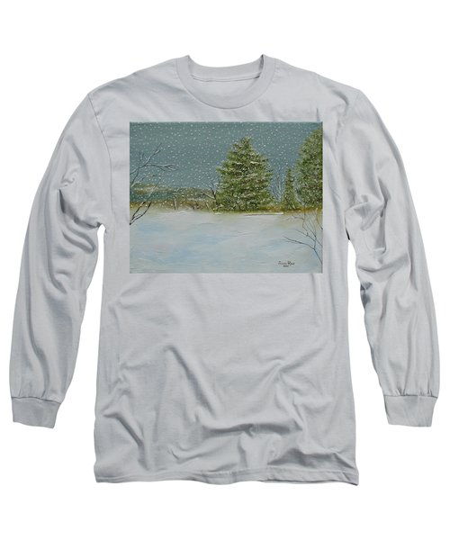Long Sleeve T-Shirt featuring the painting Winter Blanket by Judith Rhue