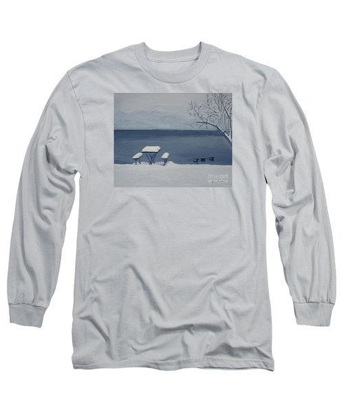Winter By The Lake Long Sleeve T-Shirt