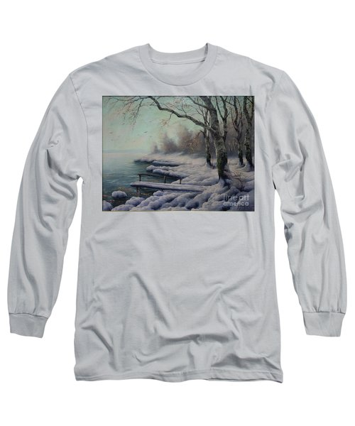 Winter Coming On The Riverside Long Sleeve T-Shirt