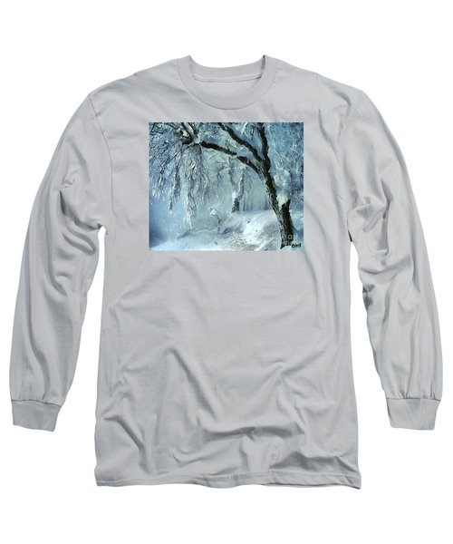 Long Sleeve T-Shirt featuring the painting Winter Dreams by Dragica  Micki Fortuna