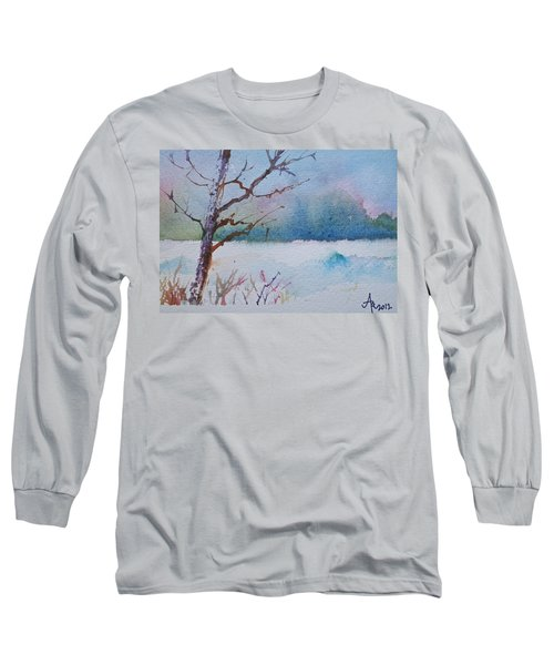 Winter Loneliness Long Sleeve T-Shirt by Anna Ruzsan